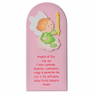 Płaskorzeźby różne: Obrazek Anioł Boży drewno
