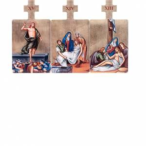 Obrazy Stacje Drogi Krzyżowej 15 części drewno s6