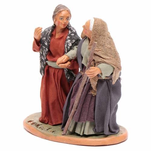 Old ladies holding hands, Neapolitan Nativity 10cm s2