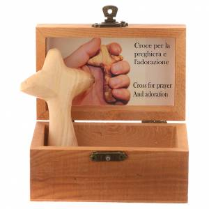Crosses and magnets: Olive wood hand cross with box
