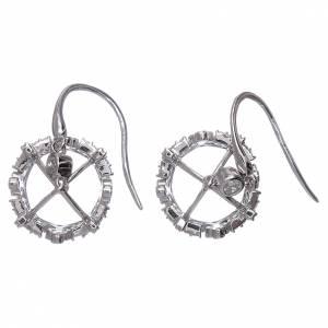 Orecchini pendenti AMEN corona argento 925 e zirconi bianchi s3