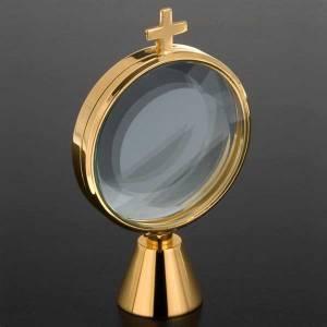 Ostensoir chapelle laiton simple  8.5 cm de diamètre s2