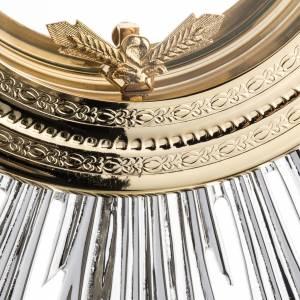 Ostensorio barocco ostia magna angeli ottone argentato s6