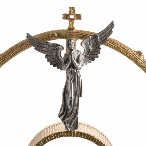 Ostensorio en bronce dorado con ángeles 60cm alto s3