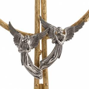 Ostensorio in bronzo dorato con angeli h 60 cm s6