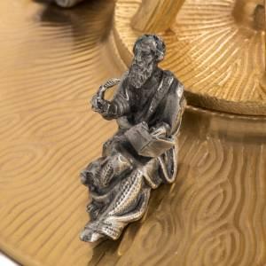 Ostensorio in bronzo dorato con angeli h 60 cm s14