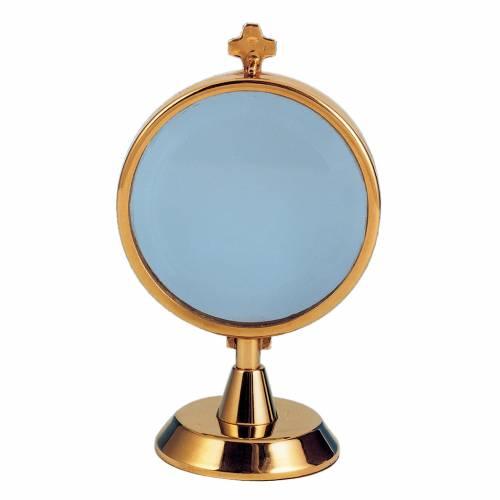Ostensorio relicario de plata 800 con baño de oro s1