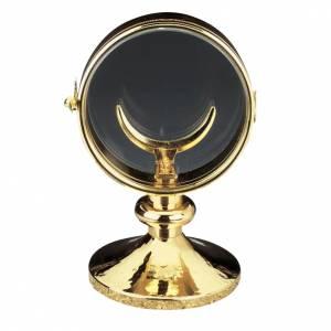 Ostensorio teca ottone dorato diam cm 11 s1