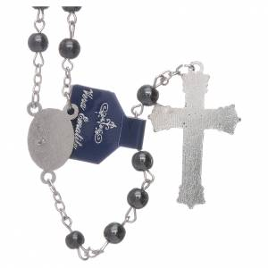 Hardstone rosaries: Our Lady of Fatima rosary hematite 6mm beads