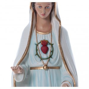 Our Lady of Fatima, statue in painted fiberglass, 100cm s4
