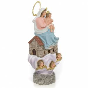 Our Lady of Loreto 30cm wood paste, elegant decoration s2