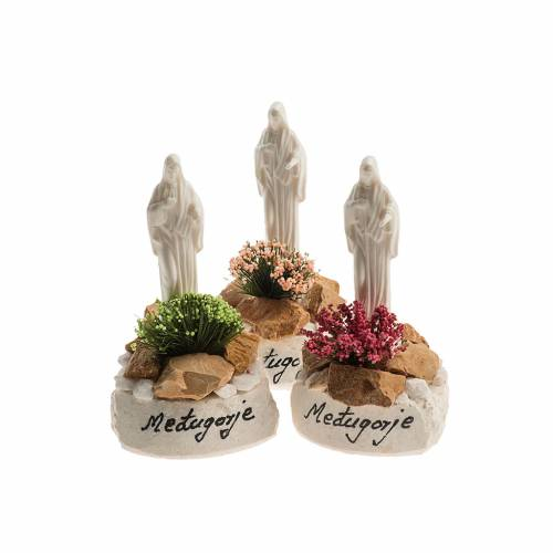 Our Lady of Medjugorje statue, H10cm with base s1