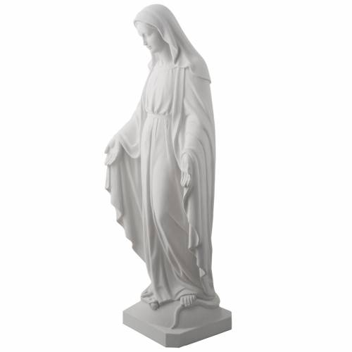 Our Lady of Miracles, 100 cm statue in reconstituted marble. s4