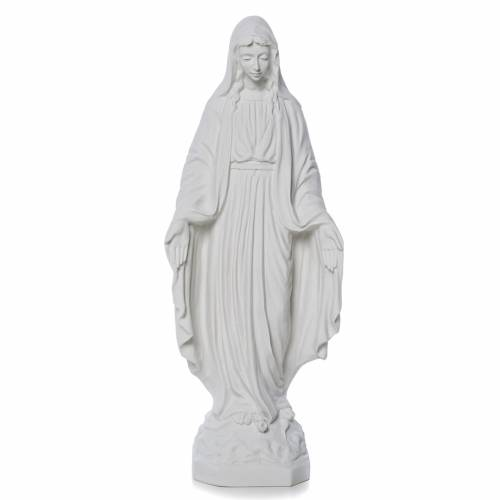 Our Lady of Miracles statue made of reconstituted marble 50 cm s1