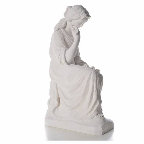 Our Lady of Sorrows statue made of reconstituted marble, 80cm s4
