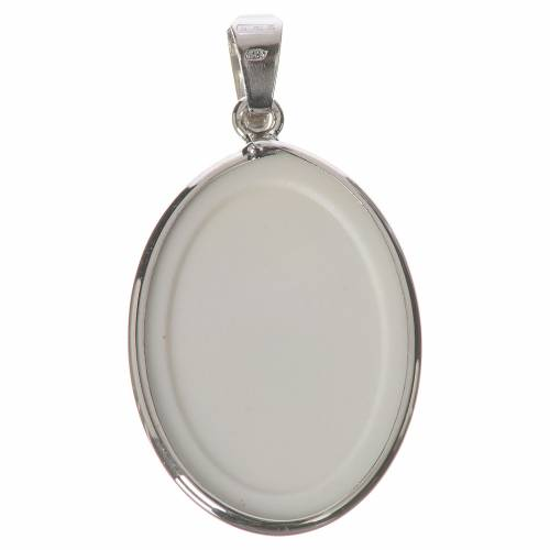 Oval medal in silver, 27mm Our Lady Untier of Knots s2