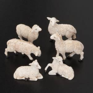 Animales para el pesebre: Ovejas para belén de 10 cm 6 pz.