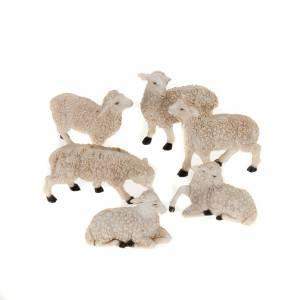 Zwierzęta do szopki: Owce do szopki 10 cm 6 sztuk