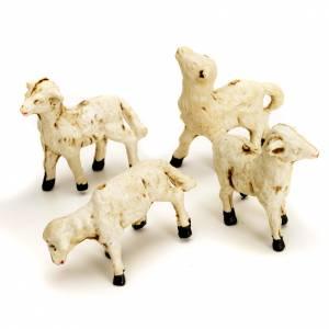 Zwierzęta do szopki: Owieczki szopka zestaw 4 sztuki 8 cm