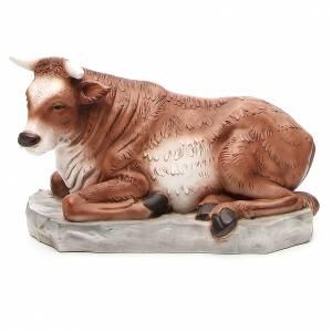 Ox for nativity scene in resin 65cm s1