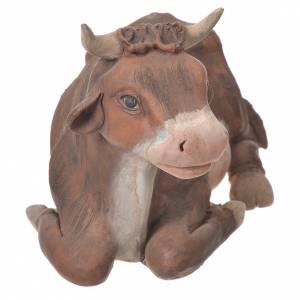 Ox in terracotta, Neapolitan Nativity 24cm s4