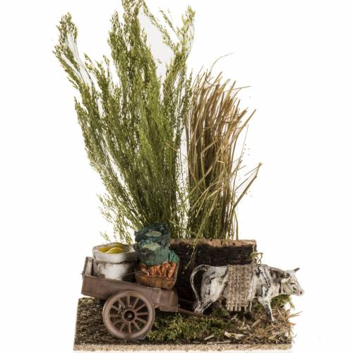Ox with sacks cart, nativity setting s1