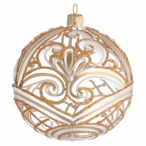 Palline di Natale: Pallina di Natale trasparente oro 100 mm
