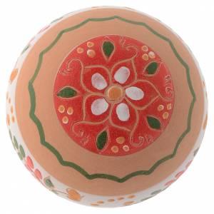 Pallina tonda in terracotta 80 mm rosso s2