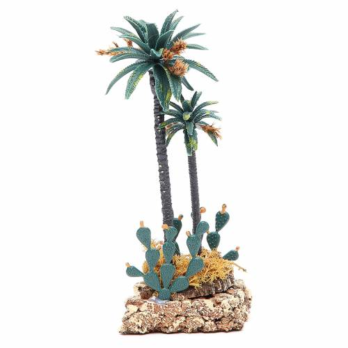 Palm tree and cactus for nativity scene in PVC, 20cm s2