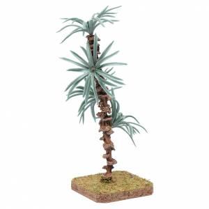 Palma 18 cm con foglie rigide accessorio per presepe s2