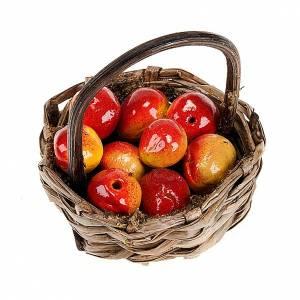 Panier de pommes rouges avec manche bricolage pour crèche s1
