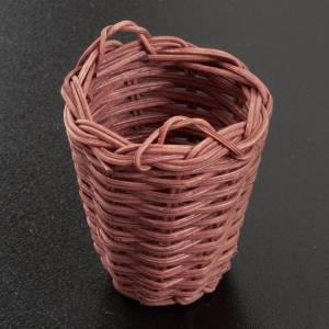 Accessoires maison en miniature: Panier en osier miniature crèche 5 cm