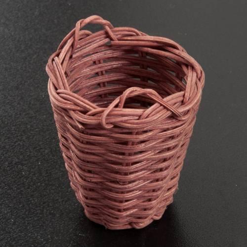 Panier en osier miniature crèche 5 cm s2