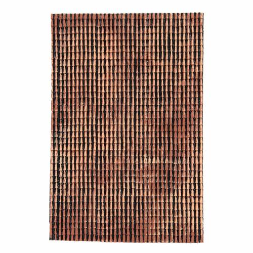 Panneau toit crèche rouge nuancé tuiles petit format 50x35 cm s3