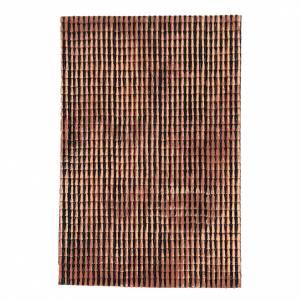 Pannello tetto presepe rosso sfumato tegole piccole 50x35 cm s3