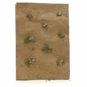 Papier désert pour crèche avec roches 70x50 cm s1