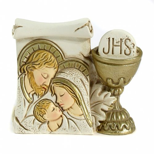 Parchment Chalice Holy Family 6x5,5cm s1