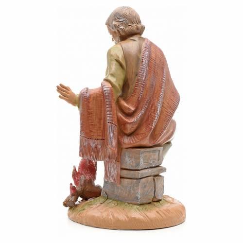 Pastor con fuego 30cm ovc Fontanini s3