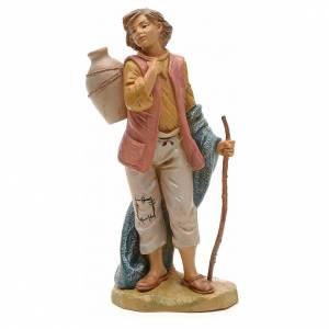 Figuras del Belén: Pastor con jarrón y bastón 19cm Fontanini