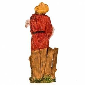 Figuras del Belén: Pastor con oveja 13 cm.