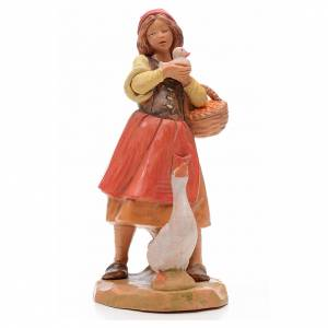 Pastora con patos 17 cm Fontanini s1