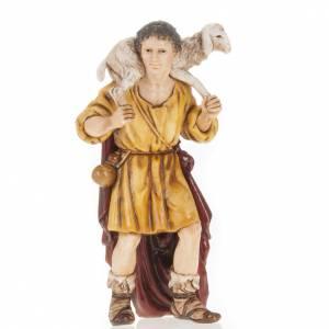 Statue per presepi: Pastore con agnello in spalla 13 cm Moranduzzo