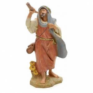 Statue per presepi: Pastore con corno 12 cm Fontanini