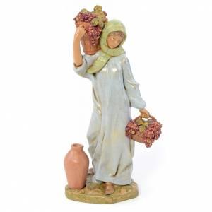 Statue per presepi: Pastorella con cesto d'uva 30 cm Fontanini