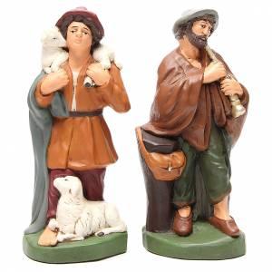 Pastores terracota pintada belén 30 cm, 4 figuras s3