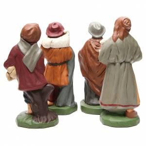 Pastores terracota pintada belén 30 cm, 4 figuras s4