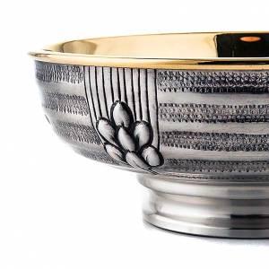 Cálices, Copones y Patenas metal: Patena cincelada de latón plateado