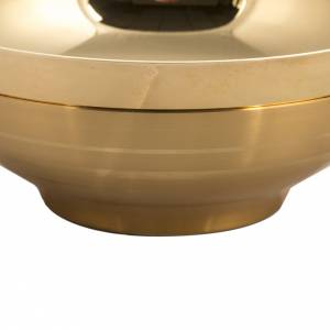 Patena offertoriale liscia dorata con bornitura cm 16 s2