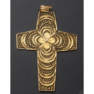 Pectoral Cross, hand made in silver 800 filigree s4