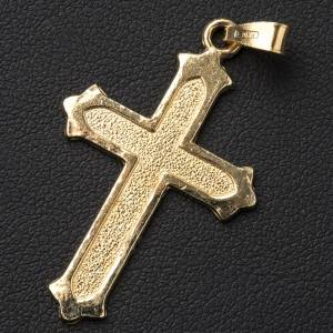 Pendant cross in gold-plated 800 silver 2x3 cm, dotted pattern s2